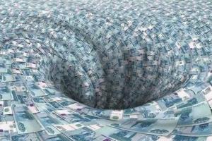 Черная дыра из рублей