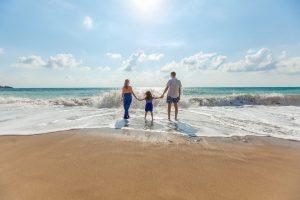 семья море
